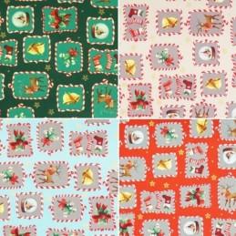 Framed Snow Globes Mistletoe Christmas Xmas 100% Cotton Fabric 140cm Wide