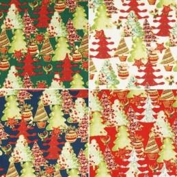 Fantastic Festive Christmas Trees Xmas 100% Cotton Fabric 140cm Wide