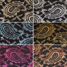 Metallic Shimmer Paisley Vines Lace Nylon Polyester Dress Fabric 147cm Wide