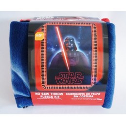 Star Wars Classic Darth Vader Sith Lord No Sew Fleece Throw Kit 100% Polyester