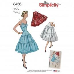 Simplicity Sewing Pattern 8456 Misses' 1950s Vintage Slip Petticoat Tops