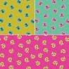 Kitty Sitting Curious Kittens Cats 100% Cotton Fabric Patchwork (Makower) JANUARY