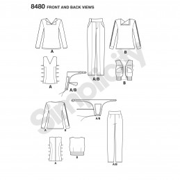 Women's Rogue One Inspired Warrior Costumes Simplicity Sewing Pattern 8480