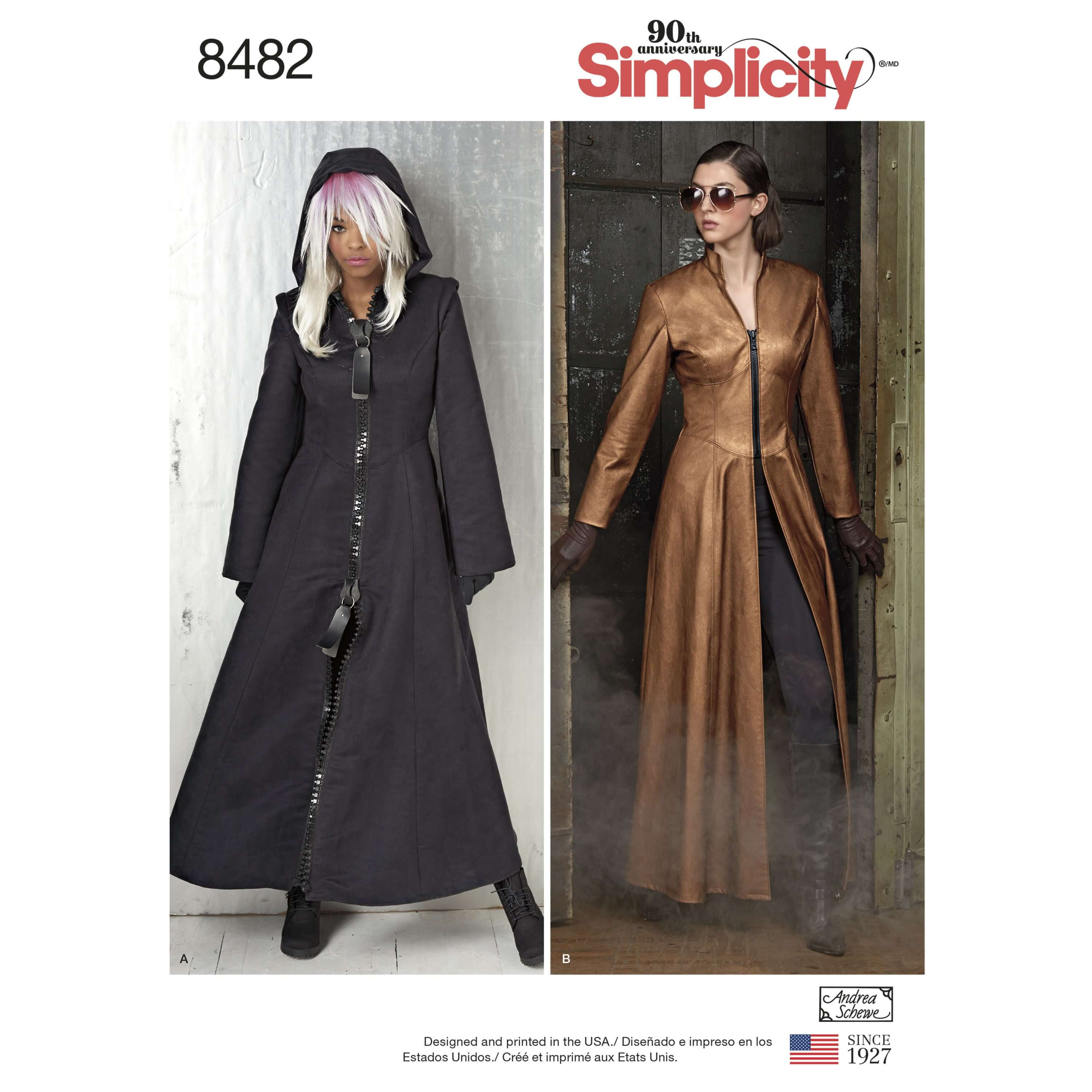 Women's Costume Maxi Coats with Hood Option Simplicity Sewing Pattern 8482