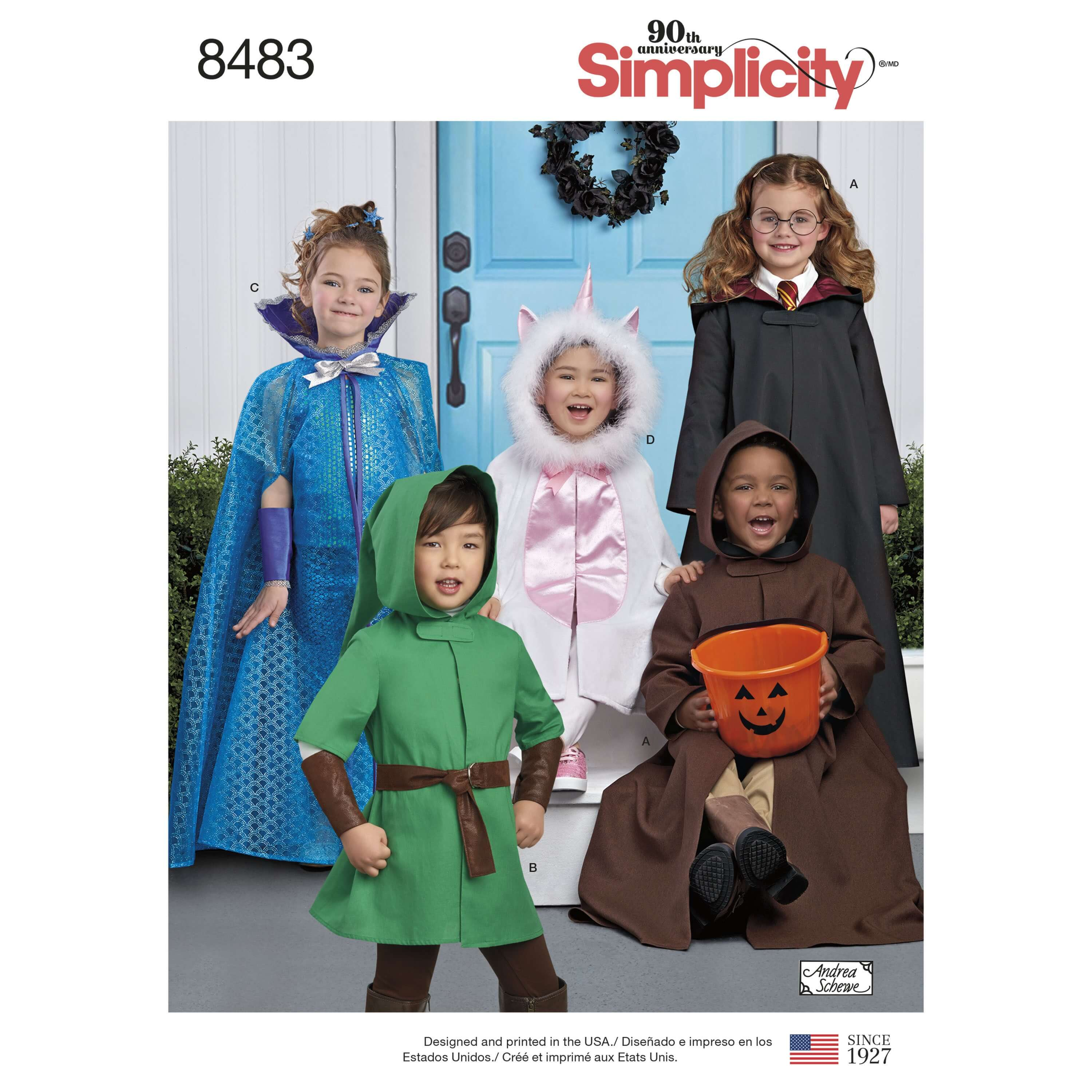 Child's Halloween Dress Up Character Costumes Simplicity Sewing Pattern 8483
