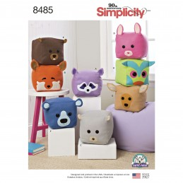 Stuffed Cube Woodland Animal Cushions Costumes Simplicity Sewing Pattern 8485