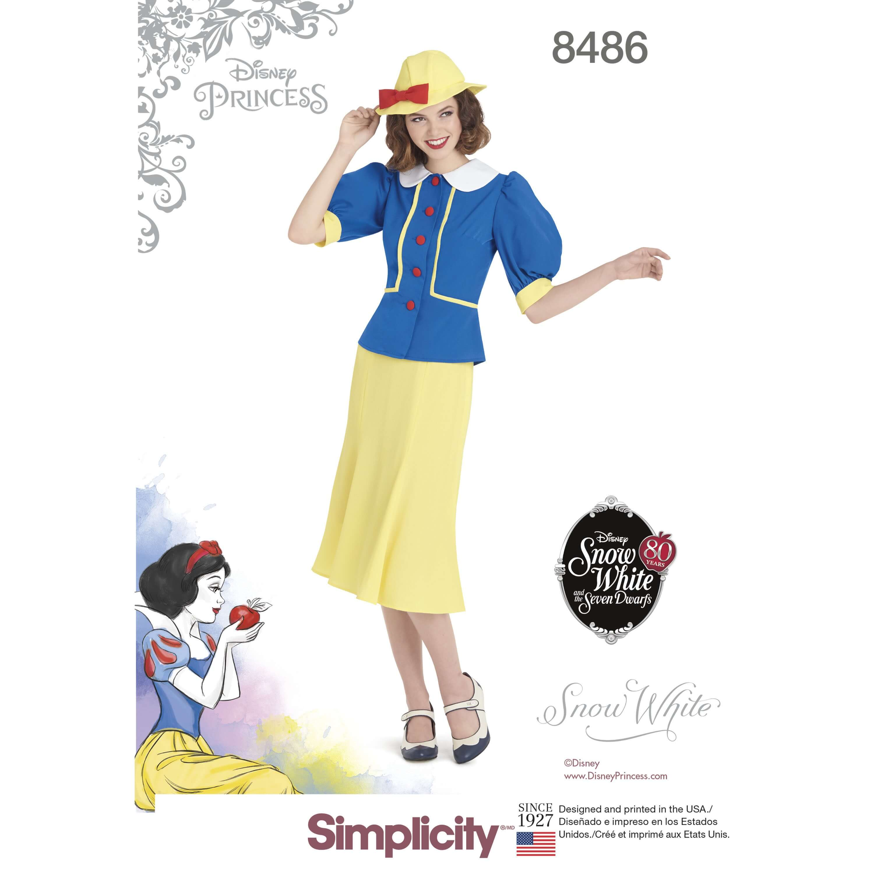 Women\'s Vintage 1930s Inspired Snow White Costume Simplicity Sewing...