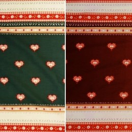 Bargain Price Christmas Cross Stitch Style Border Print 100% Cotton Fabric 140cm