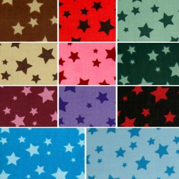 4mm - 15mm Starry Night Sky 100% Cotton Fabric 150cm Wide (Fabric Freedom)