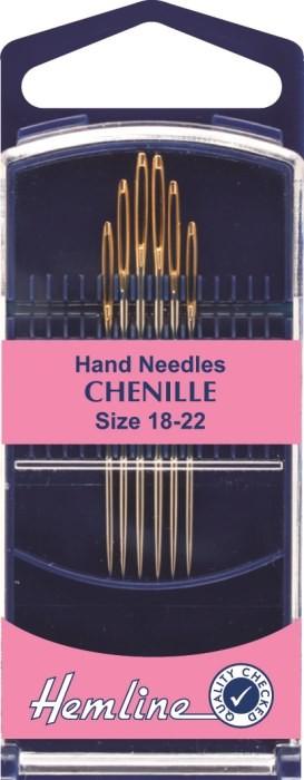 Hemline Premium Chenille Hand Sewing Needles Size 3-7