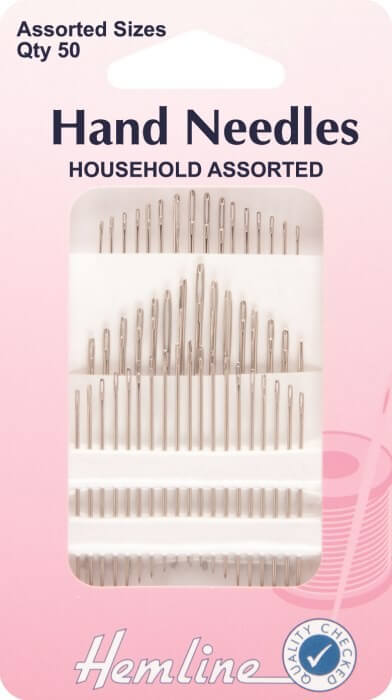 Hemline Household Assorted 50 Pack Hand Sewing Needles