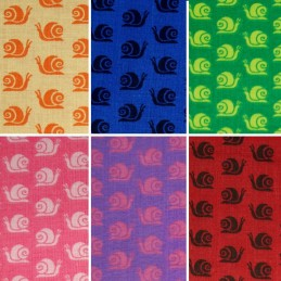 Colourful Slimy Snails Print 100% Cotton Fabric 150cm Wide (Fabric Freedom)