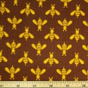 Colourful Buzzing Wasps Print 100% Cotton Fabric 150cm Wide (Fabric Freedom)