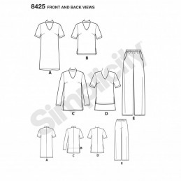 Misses & Petite Separates Tunics Dress & Trousers Simplicity Sewing Pattern 8425