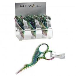 "Milward Rainbow Stork Embroidery Scissors 3.5""/9cm Needlework"