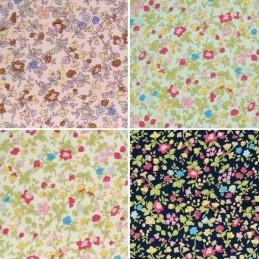 Summery Stems Floral Flower Field 100% Cotton Poplin Fabric (Fabric Freedom)
