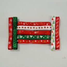 3 Metres 10mm Winter Festive Collection Christmas Satin Ribbon Craft Decoration