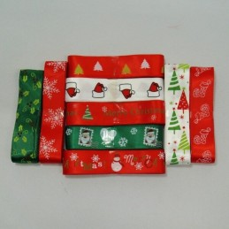 3 Metres 25mm Winter Festive Collection Christmas Satin Ribbon Craft Decoration