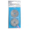 Milward Rotary Cutter 45mm Assortment Replacement Blades x 3