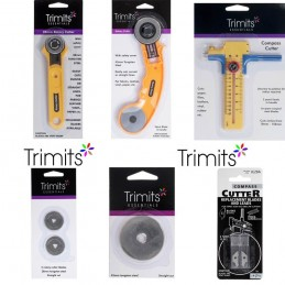 Trimits Rotary Cutter 28mm, 45mm & Compass Cutter + Replacement Blades