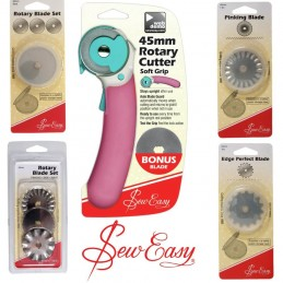 Sew Easy 45mm Rotary Cutter + Replacement Blades