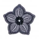 Grey Sequin Flower