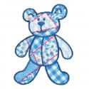 Blue Patchwork Bear