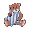 Bear Blue Stripe Star