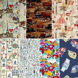 Timeless Treasures Hobbies and Holidays Collection 100% Cotton Patchwork Fabric