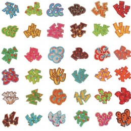 Alphabet Letters & Numbers Patch Iron On Sew On Motif Applique