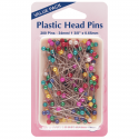 H668.20 - Plastic Head Pins: Nickel - 38mm - 200pcs