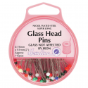 H679. XL - Glass Head Pins: Nickel - 51mm, 110pcs