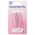 H711 - Florist/Hat Pins: Nickel - 65mm, 10pcs