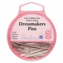 H716 - Dressmakers Fine Pins: Nickel - 32mm, 310pcs