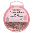 H718 - Fine Dressmakers Pins: Nickel - 33mm, 320pcs