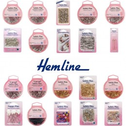 Hemline Selection Of Safety Pins Steel & Brass Dressmaking