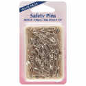 H410.0.100 Safety Pins: 27mm Value Pack - Nickel - 100pcs