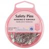 Hemline Selection Of Safety Pins Steel & Brass Dressmaking Nappy Pins