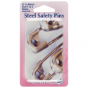 H410.PT Safety Pins: Assorted Sizes in Tin - 60pcs