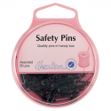 H414.99 Safety Pins: Assorted - Black - 50pcs