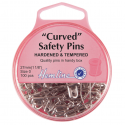 H418.0 Curved Safety Pins: Nickel - 27mm - 100pcs
