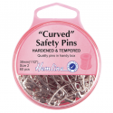 H418.2 Curved Safety Pins: Nickel - 38mm - 60pcs