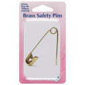 H419.PT Safety Pins in Tin: Brass - 23mm - 100pcs
