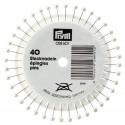 Pearl Head Pins 38mm Silver 40 Piece Wheel 028601