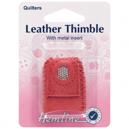 Hemline Selection Of Thimbles Sewing Quilting Leather Thimble