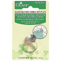CL611 - Thimble Adjustable Ring With Plate