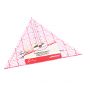 NL4174 Quilting Ruler: 60 Degree Triangle: 8 x 9.25 inch