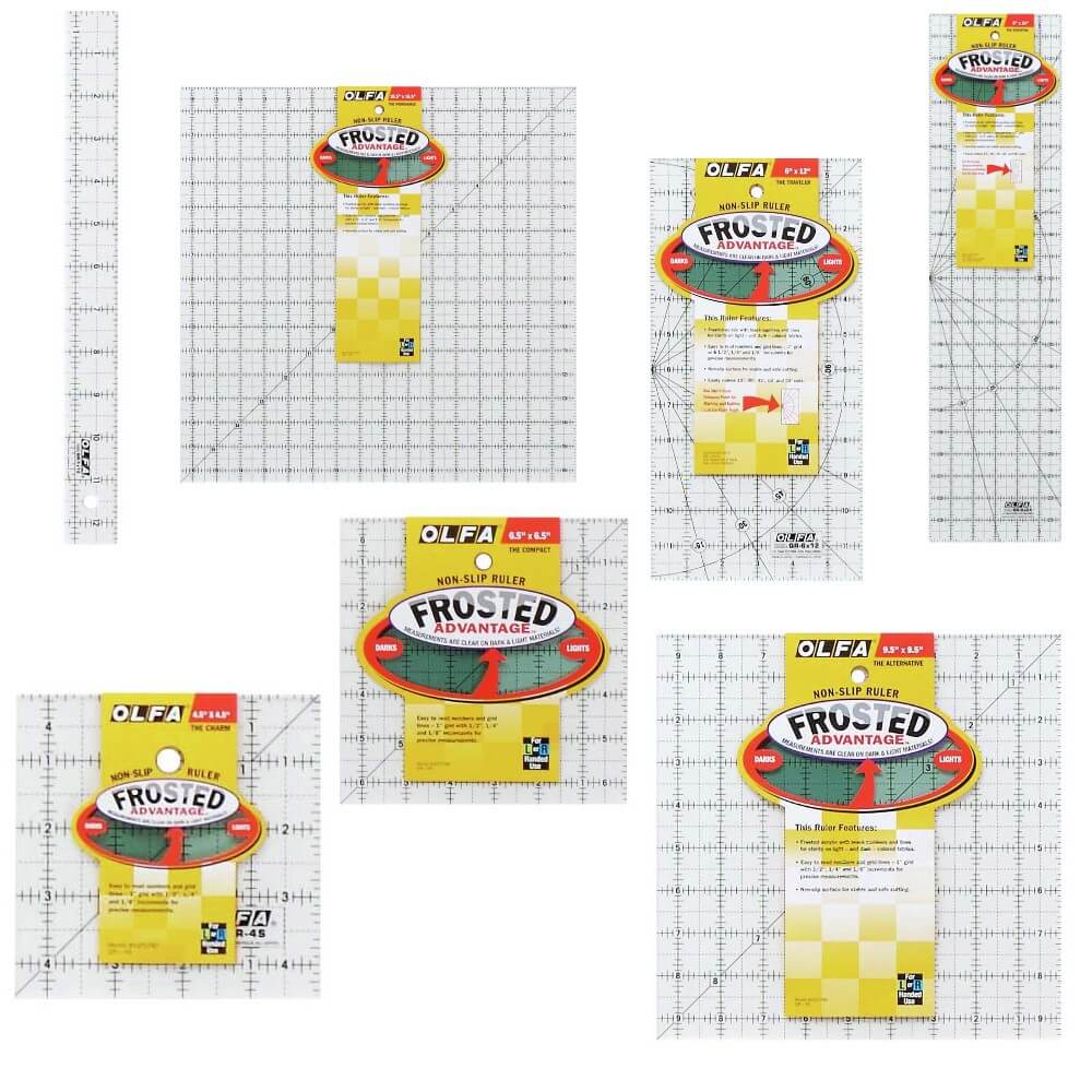 1. QR112 - Quilting Rule: Non-Slip: 1.25 x 12.5 inch