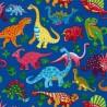 100% Cotton Fabric Nutex Dinosaur Dance Patchwork T-Rex Dino