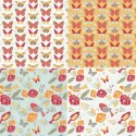Fly Collection Butterflies Birds & Beautiful Florals 100% Cotton Patchwork Fabric